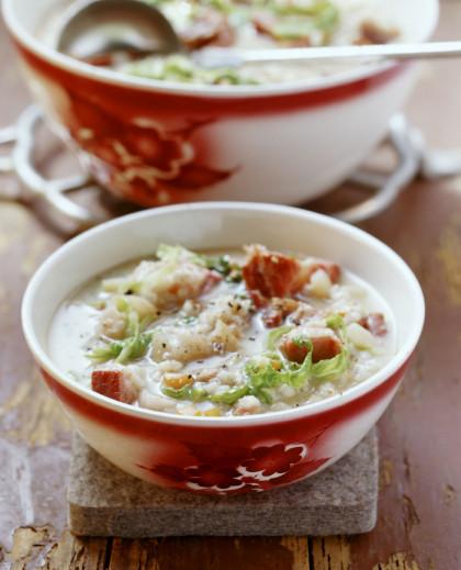Pearl Barley and Bacon Soup