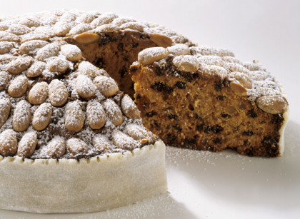 Traditional almond and dried fruit cake