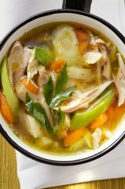 Hearty Chicken and Veggie Broth