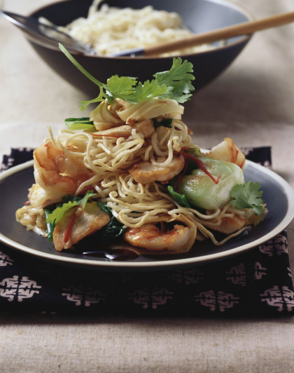 Indonesian Shrimp and Chicken Stir-Fry