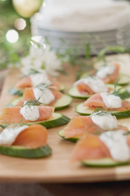 Smoked Salmon and Cucumber Appetizer