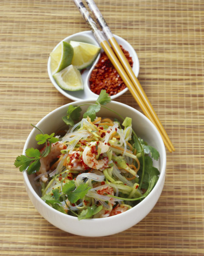 Crayfish and Noodle Salad Bowl