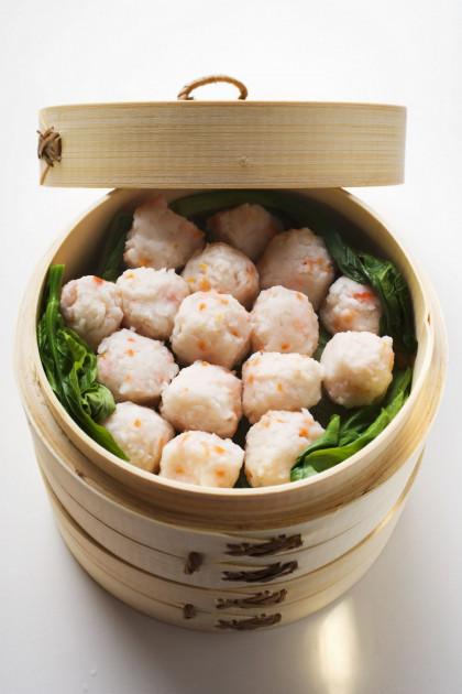 Steamed Chinese shrimp
