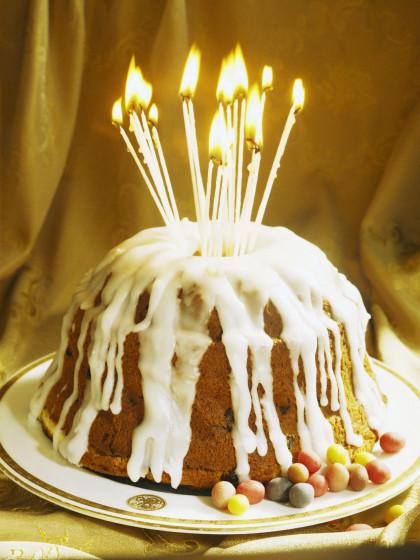 Celebration dome cake