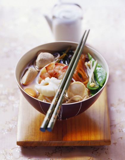 Mixed Seafood Noodle Soup