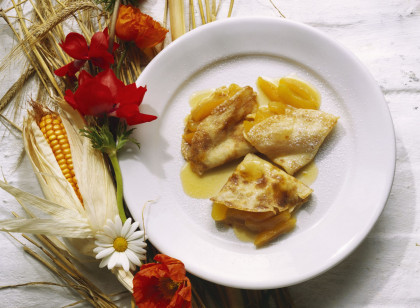 Sweetened Apricot crepes