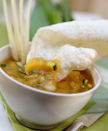 Shrimp Crackers with Sweet and Sour Sauce
