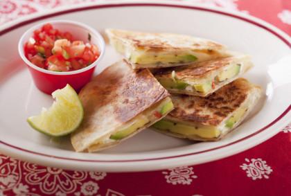Mixed Cheese and Avocado Quesadillas