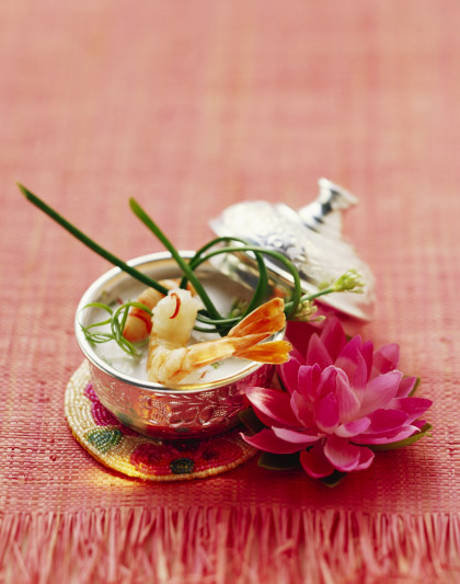 Southeast Asian broth with shrimp