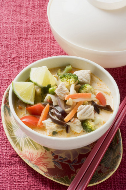 Simple Thai Styled Chicken Soup