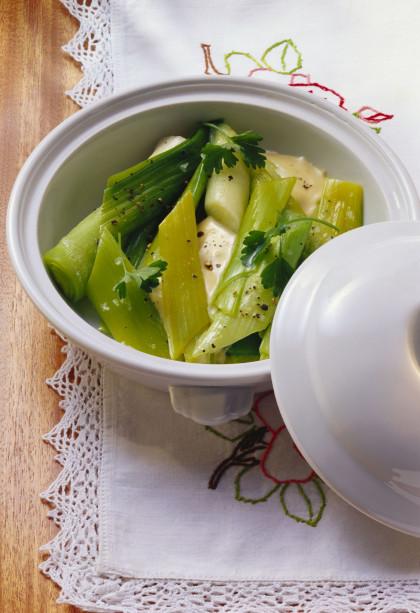 Creamy leeks with parsley