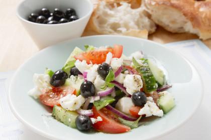 Traditional Olive and Feta Greek Salad