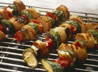 Sausage and Veggie Kebabs