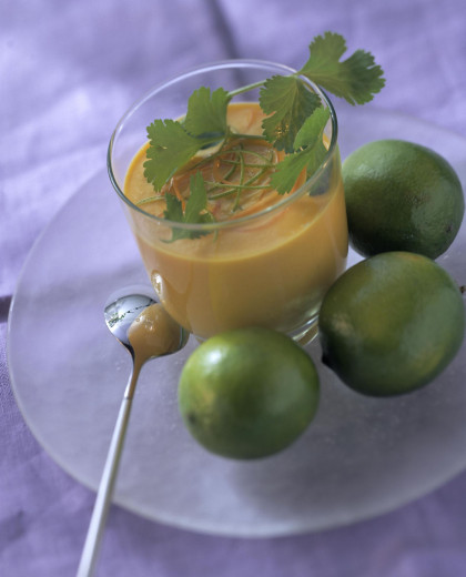 Carrot and lime lassi
