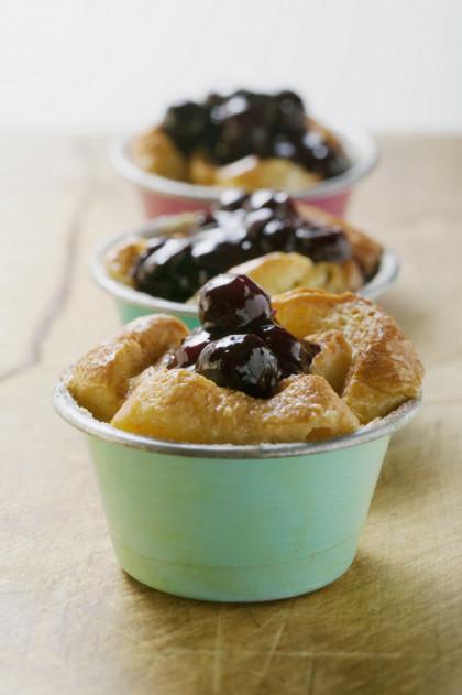 Stone fruit puddings