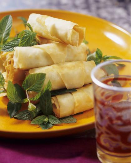 Phyllo vegetarian wraps