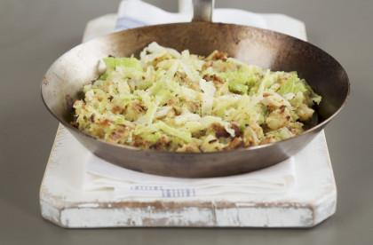 Leftover vegetable skillet