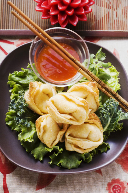 Chinese crispy dumplings