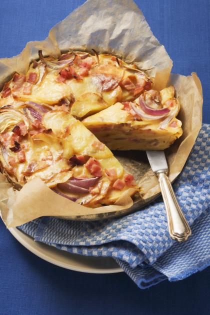 German potato and onion bake