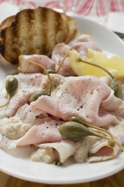 Thinly sliced pork platter